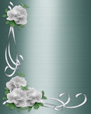 Wedding Border White Roses Royalty Free Stock Images