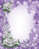 Wedding Border White Roses on lavender vector illustration