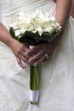 Wedding bouquet. A bride holding her wedding bouquet Stock Image