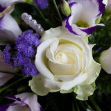 Wedding bouquet. With roses and pearls Stock Images