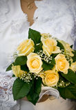 Wedding bouquet. Closeup of bride holding wedding bouquet Stock Images