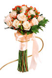 Wedding bouquet. Beautiful wedding bouquet of salmon color roses Stock Images