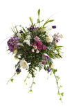 Wedding bouquet. Mixed flowers bouquet for wedding isolated over white Stock Image