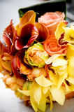 Wedding Bouquet. Orange and yellow wedding bouquet Royalty Free Stock Image