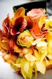 Wedding Bouquet. Orange and yellow wedding bouquet royalty free stock image