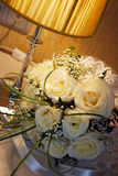 Wedding Bouquet. Near the lamp Royalty Free Stock Images