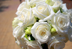 Wedding Bouquet. Of white roses Royalty Free Stock Images