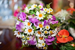 Wedding bouquet. Of different flowers Royalty Free Stock Image