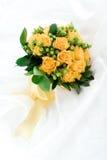 Wedding bouquet. Yellow  roses wedding bouquet isolated on white background Stock Photo