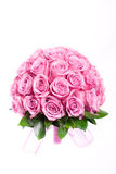 Wedding bouquet. Pink  roses wedding bouquet isolated on white background Royalty Free Stock Image