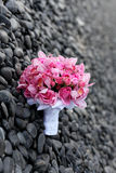 Wedding bouquet. On the ground Royalty Free Stock Photography