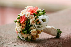 Wedding bouquet. With colorful roses Stock Photos