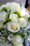 Wedding bouquet. With white roses Stock Photo
