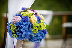 Wedding Bouquet. Bridal bouquet made from multi-colored flowers Stock Images