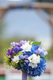 Wedding Bouquet. Bridal bouquet made from multi-colored flowers Royalty Free Stock Images