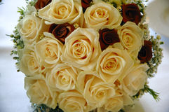 Wedding Bouquet. Made from yellow and red roses Royalty Free Stock Image