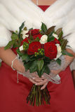 Wedding bouquet. A bride holding a wedding bouquet stock images
