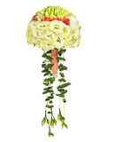 Wedding bouquet. Isolated on white. Beautiful bridal flowers royalty free stock photos