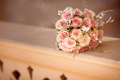 Wedding bouquet. With roses outdoor Stock Image