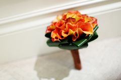 Wedding bouquet. On the ground Royalty Free Stock Images
