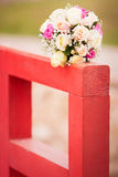Wedding bouquet. With pink and white roses Stock Photography