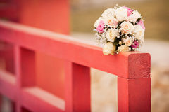 Wedding bouquet. With pink and white roses Stock Photo