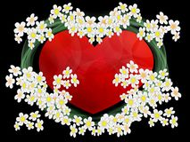 Wedding bouquet. With heart from beautiful flowers Stock Image