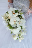 Wedding bouquet. In hands of the bride Royalty Free Stock Image