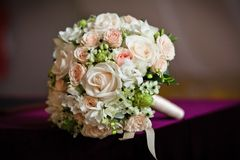 Wedding bouquet. Close up of wedding bouquet Stock Photography