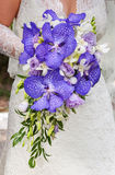 Wedding bouquet. In hands of the bride Royalty Free Stock Photo