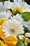 Wedding bouquet. With white gerbera Stock Photo