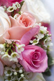 Wedding bouquet. A wedding bouquet with roses and other flowers Royalty Free Stock Photography