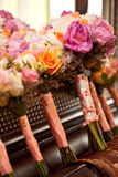Wedding bouquet. With colorful flowers Stock Image