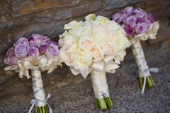 Wedding bouquet. With white roses Stock Image