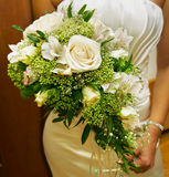 Wedding bouquet. Beautiful and celebratory stock photo
