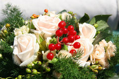 Wedding Bouquet. A brides wedding bouquet - series Royalty Free Stock Photography