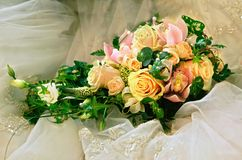 Wedding bouquet. From roses, very beautiful Stock Images