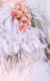 Wedding bouquet. Closeup of wedding bouquet decoration stock images