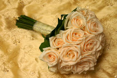 Wedding Bouquet. Made of cream roses Royalty Free Stock Image
