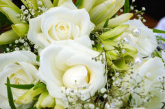 Wedding bouquet. Bouquet white flower with pearls Stock Images