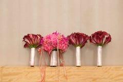 Wedding bouquet. On the desk Royalty Free Stock Photos