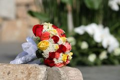 Wedding bouquet. At natural background Stock Photos