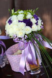 Wedding bouquet. On the desk Royalty Free Stock Image
