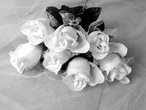 Wedding Bouquet. Black and white bouquet of roses (artificial royalty free stock image