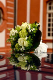 Wedding Bouquet. A nice Wedding Bouquet on a car Royalty Free Stock Image