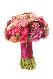 Wedding bouquet with Astrantia, Skimma, Brassica, rose bush, Ran Royalty Free Stock Images