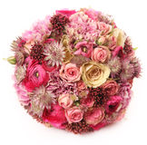 Wedding bouquet with Astrantia, Skimma, Brassica, rose bush, Ran Stock Image