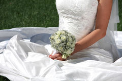 Free Wedding Bouquet At Bride S Hands Stock Photography - 15926652