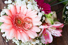 Wedding bouquet, background. Stock Photo