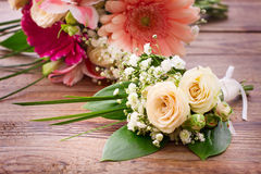 Wedding bouquet, background. Stock Image